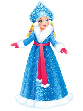Snow Maiden (Snegurochka), traditional  Russian Christmas character