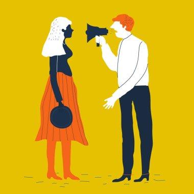 Couple characters quarrel