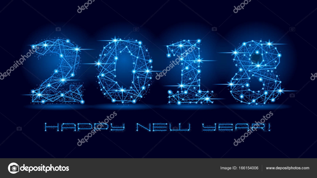 2018 happy new year text for card for your design vector illustration stock
