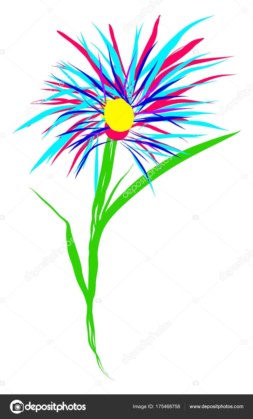 Enfants De Fleur Dessin Primitif Bouquet De Couleurs