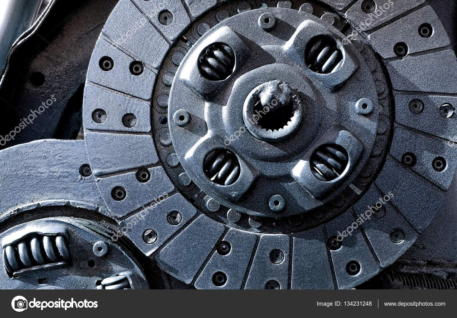 Graue Farbe Automotor Teil — Stockfoto © wanchanta #134231248