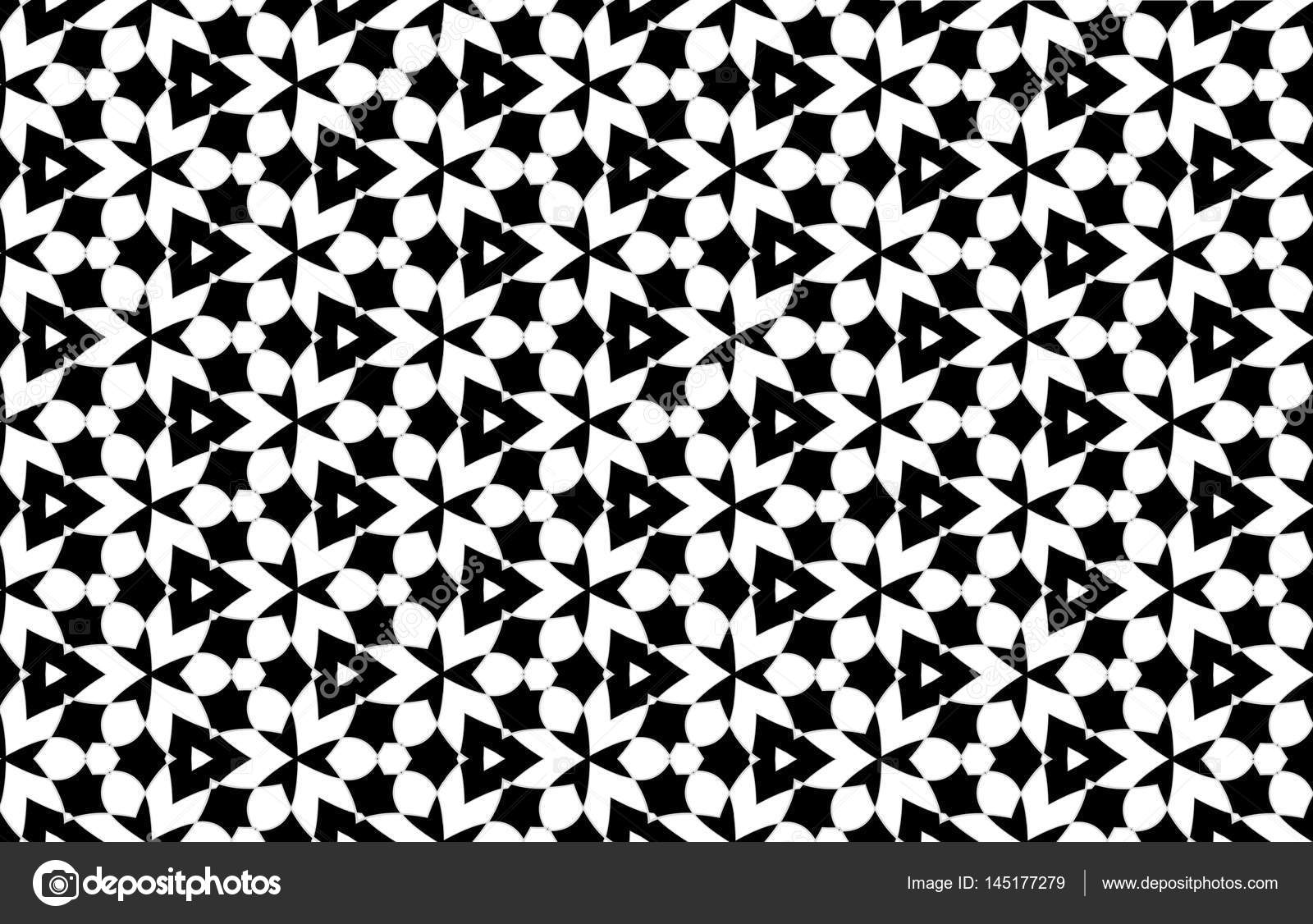 Disegno Astratto Del Reticolo Bianco E Nero Per Lo Sfondo Foto