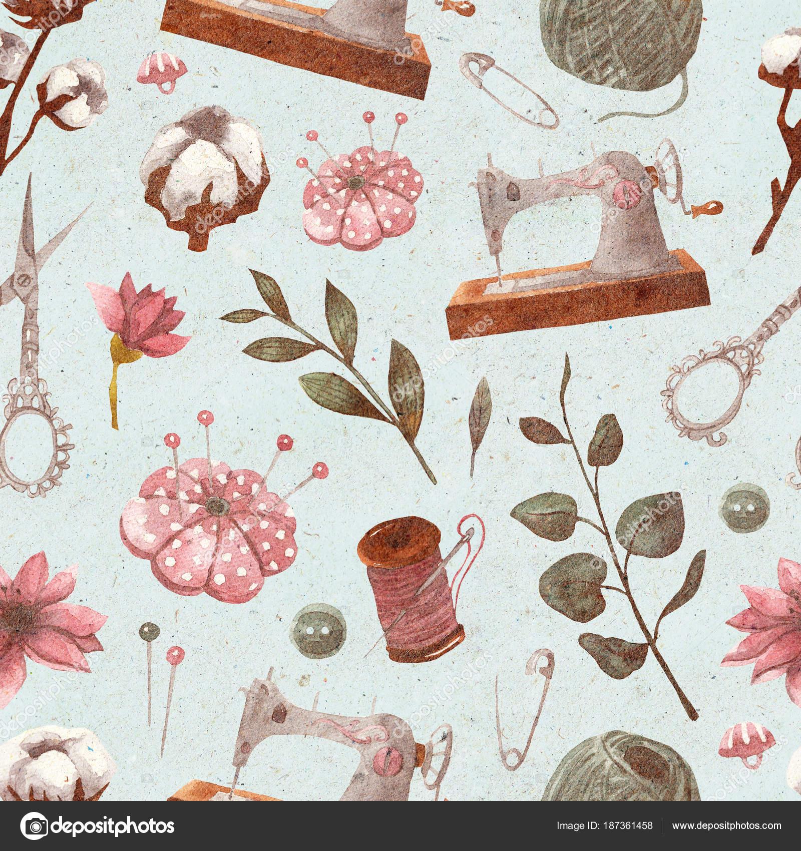 Imágenes: vintage de costura | Sin Fisuras Patrón Vintage Con ...