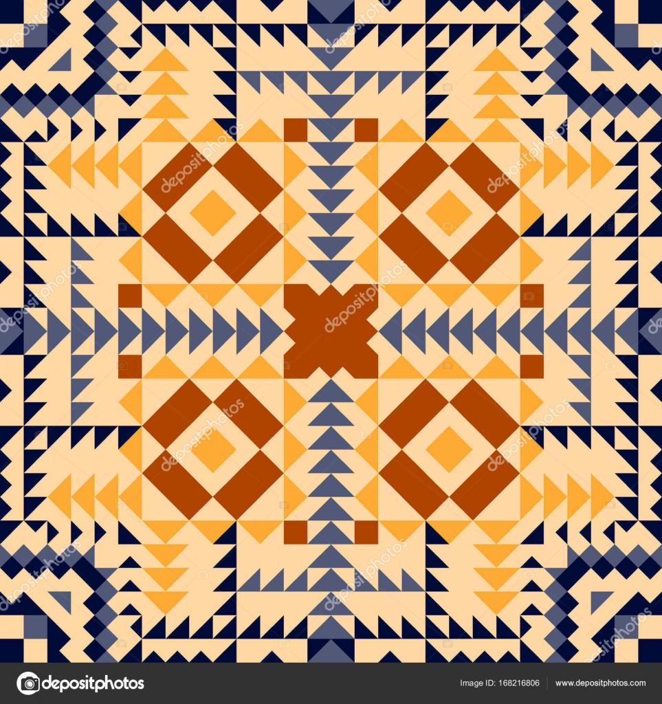 Tribal vector seamless pattern set. Aztec fancy abstract geometric ...