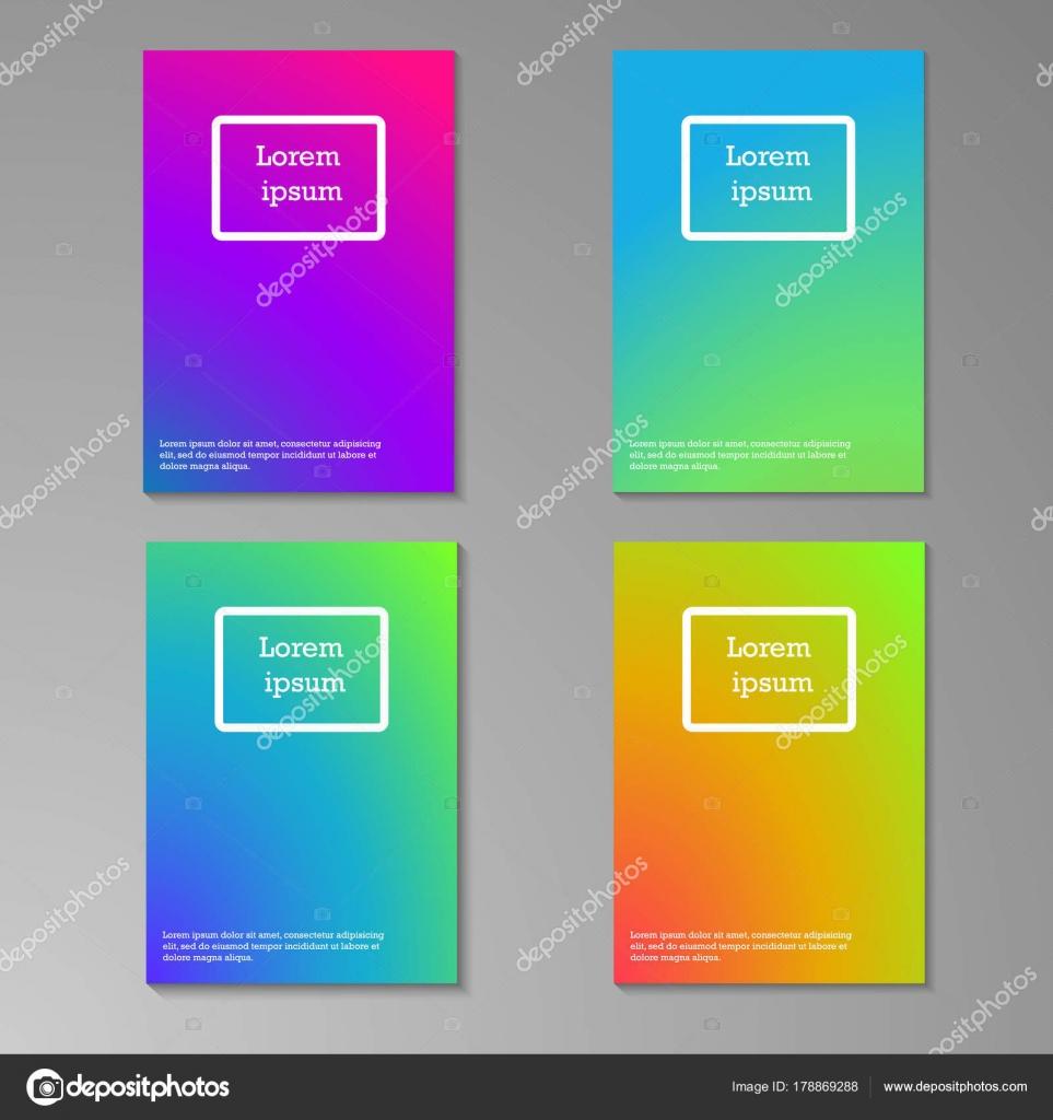 Resumen Colección Plantillas Diseño Multicolor Folleto Borrosa Libro ...