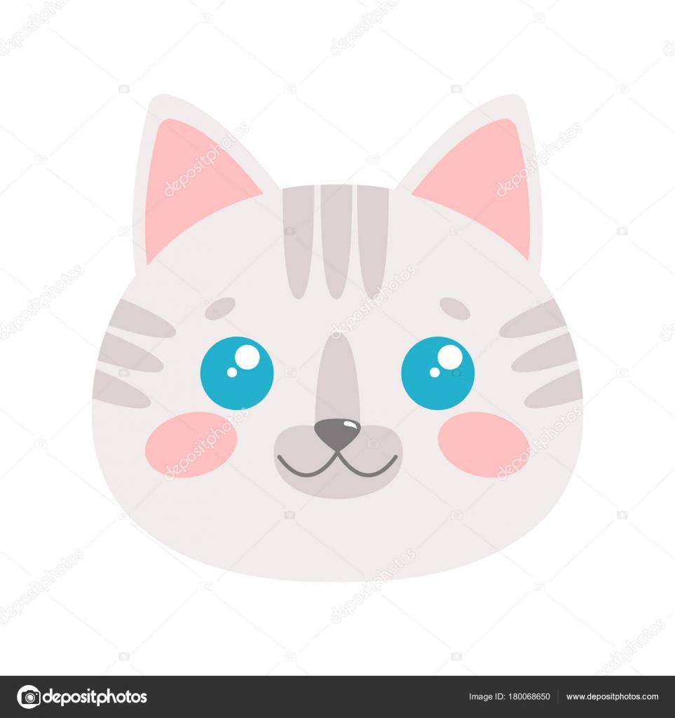 cute cat face vector illustration stock vector exit near gmail