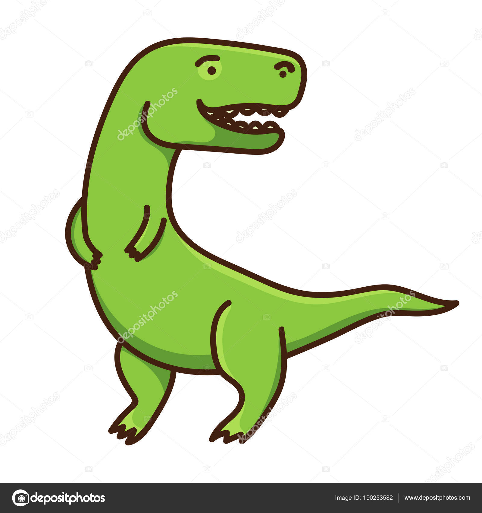 Image of: Rawr Cute Cartoon Dinosaur Isolated On White Background Vector Illustration Stock Illustration Depositphotos Cute Cartoon Dinosaur Isolated White Background Vector Illustration