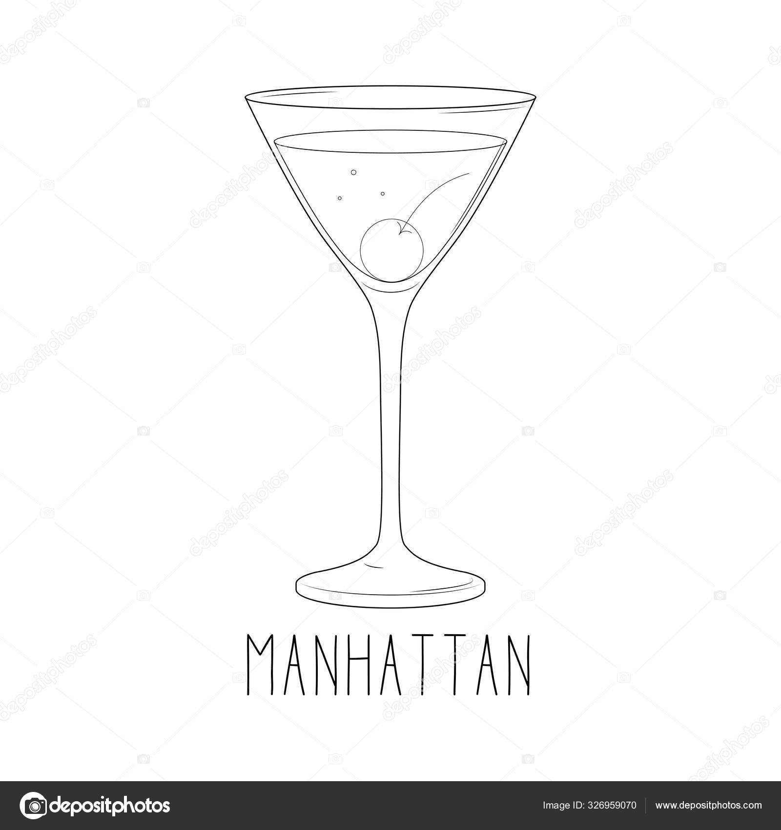 Manhattan Cocktail Sketch Vector Images Royalty Free Manhattan Cocktail Sketch Vectors Depositphotos