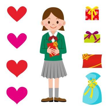 Schoolgirl and Valentine