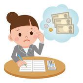 ilustrace představovat ženské účetní výpočetní