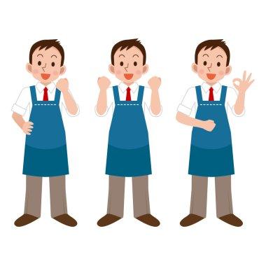 Illustration of Salesperson smile