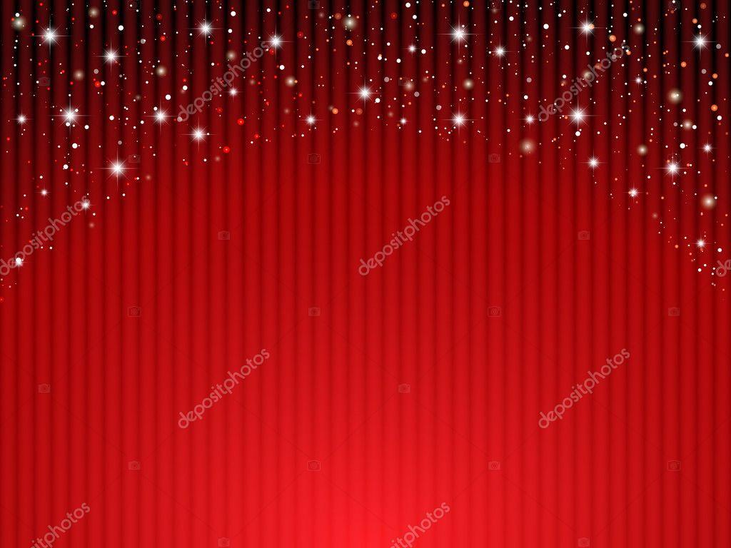 Rode gordijnen op theater met sterren — Stockvector © ankomando ...