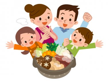 Smile of family rejoice in Casserole