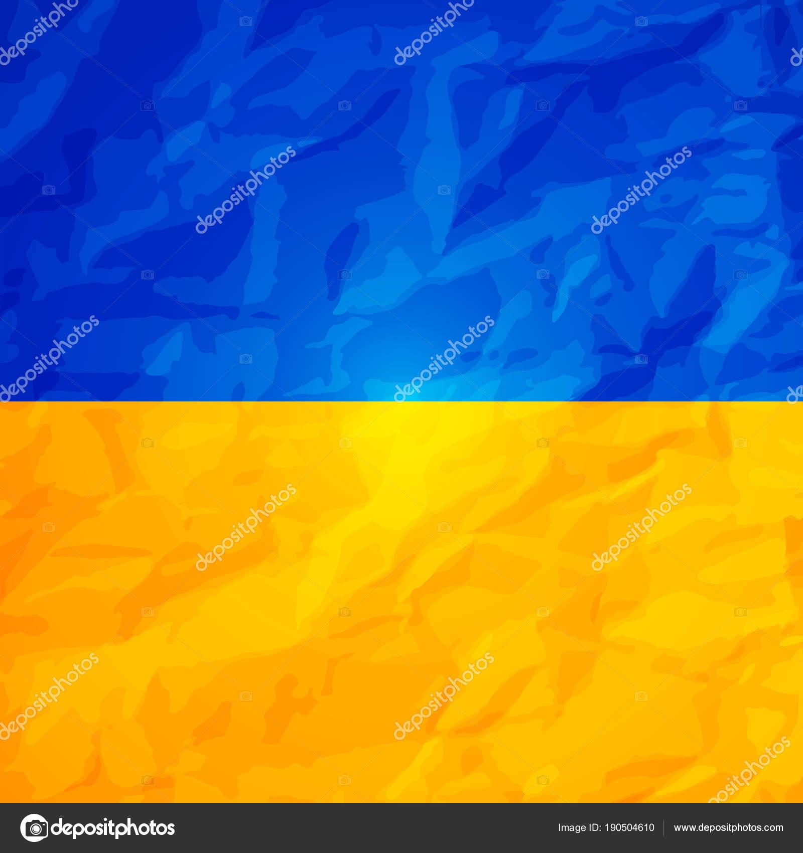 Ukraine State Flag With Effect Of Crumpled Paper Symbol Of Ukraine