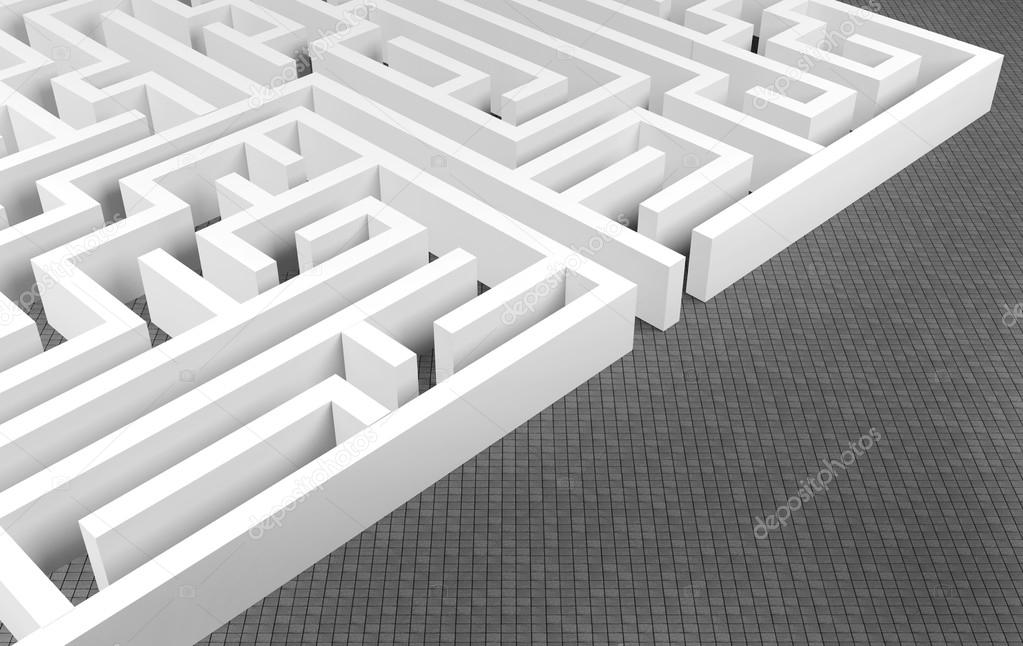 Maze background, complex problem solving concept — Stock Photo