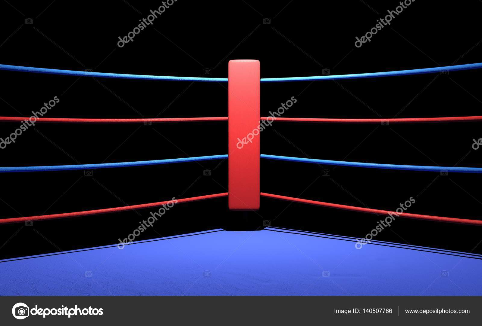 Boxing ring red corner in dark background stock photo geerati boxing ring red corner in dark background photo by geeratigmail ccuart Images