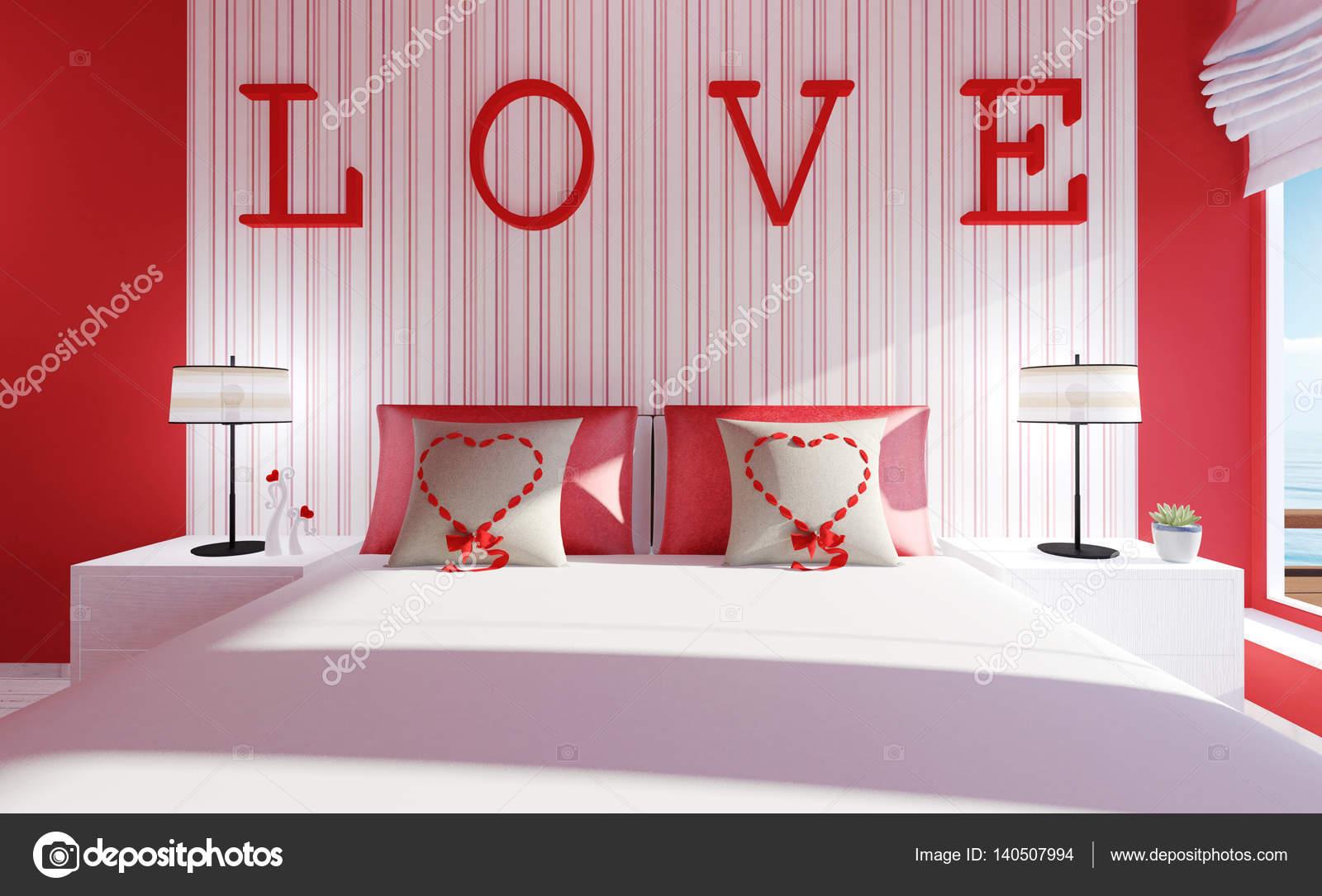 Sevgililer Günü İçin Yatak Odası Tasarımları