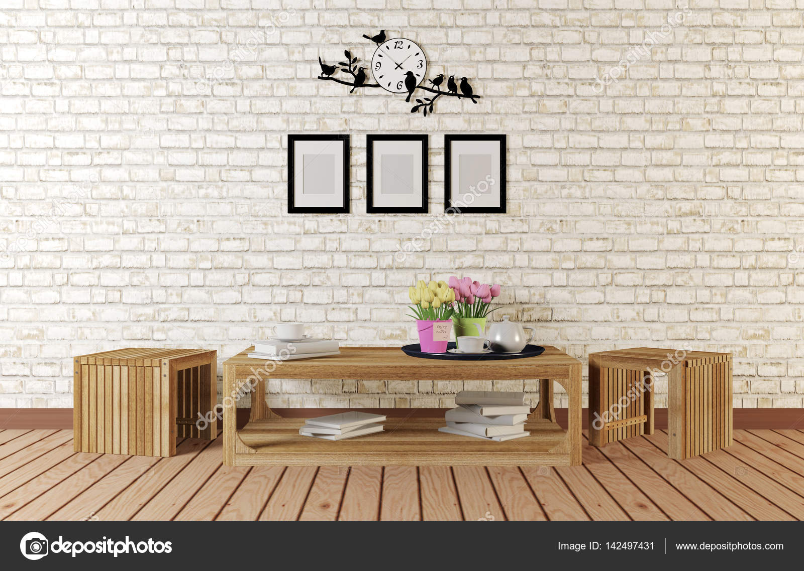 Minimalistischer Stil Zimmer Mit Einfache Gestaltete Mobel