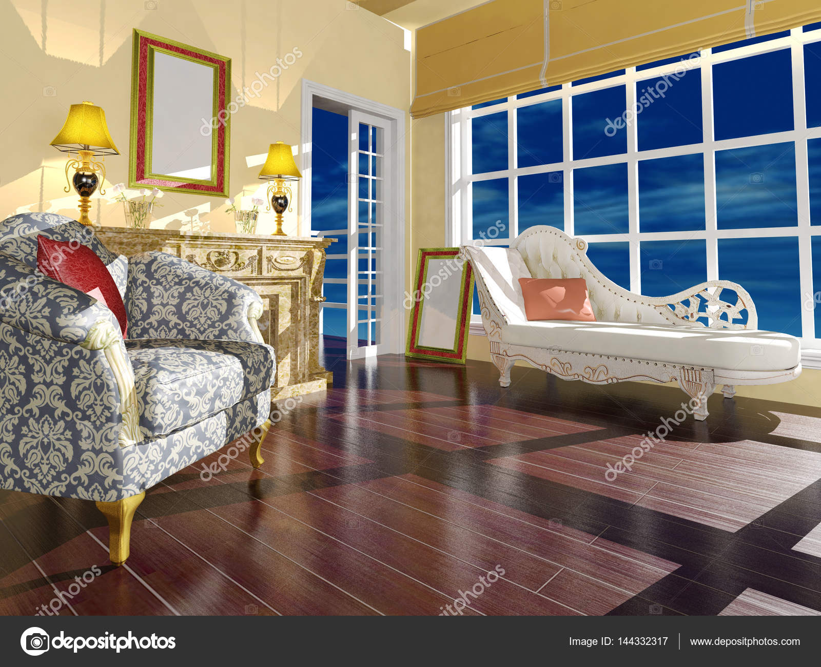 dcoration dintrieur de salon classique en plein jour image de geeratigmailcom