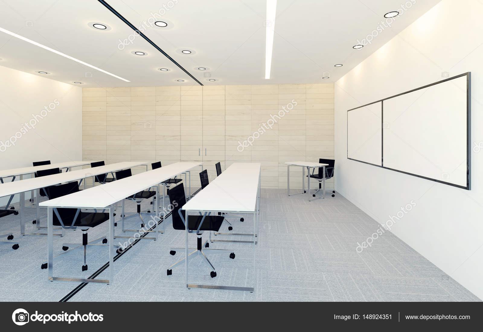 Moderne Interieur des Geschäfts Konferenzraum mit leeren Bildschirm ...