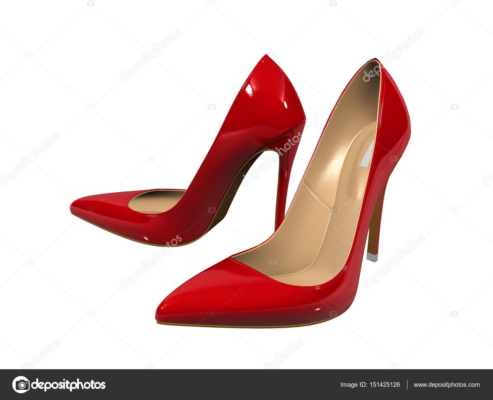 nuovi stili aad8c 38a36 Donne scarpe col tacco rosse sopra priorità bassa bianca ...