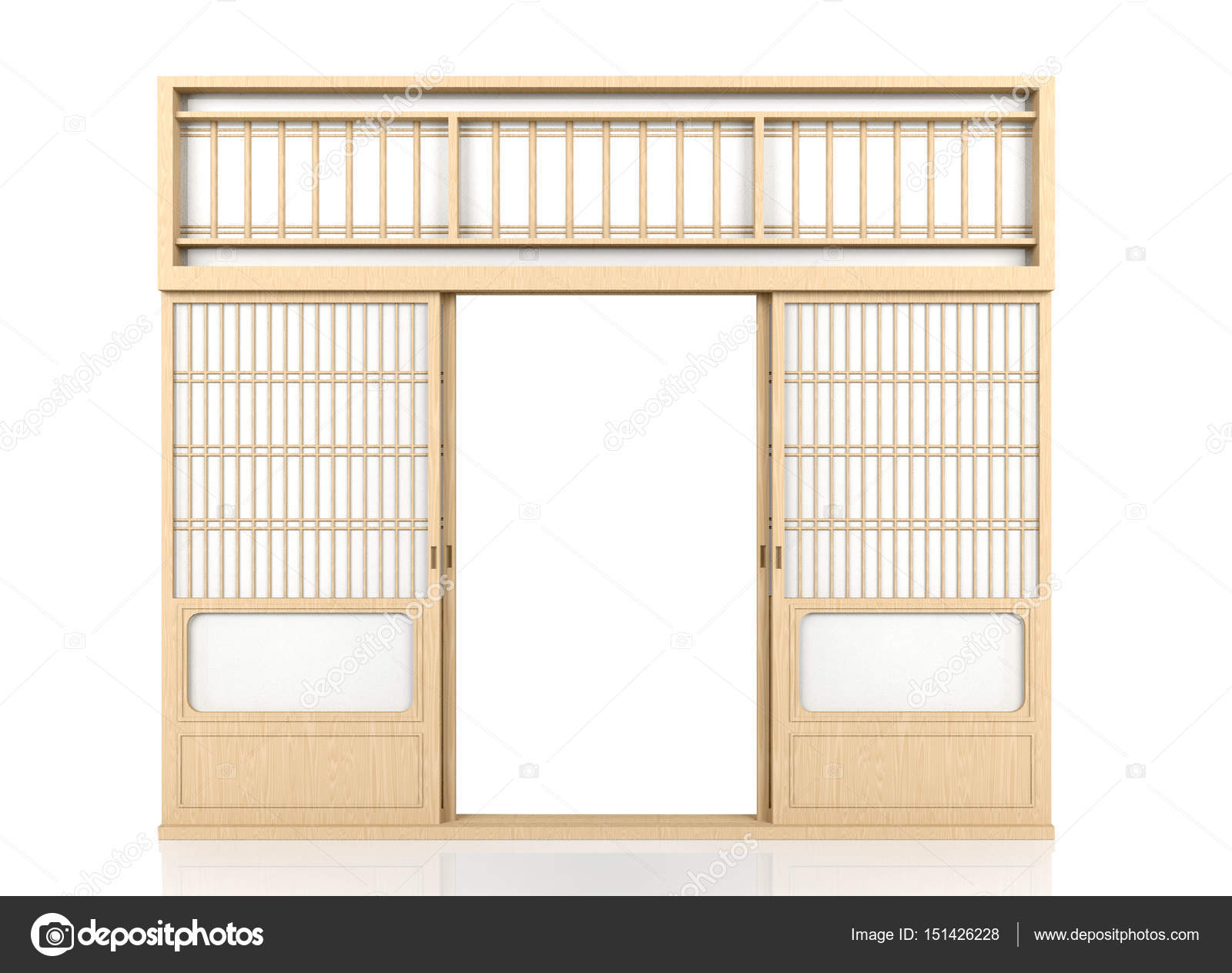 Wooden traditional Japanese Shoji door isolated on white background \u2014 Stock Photo  sc 1 st  Depositphotos & Wooden traditional Japanese Shoji door isolated on white background ...
