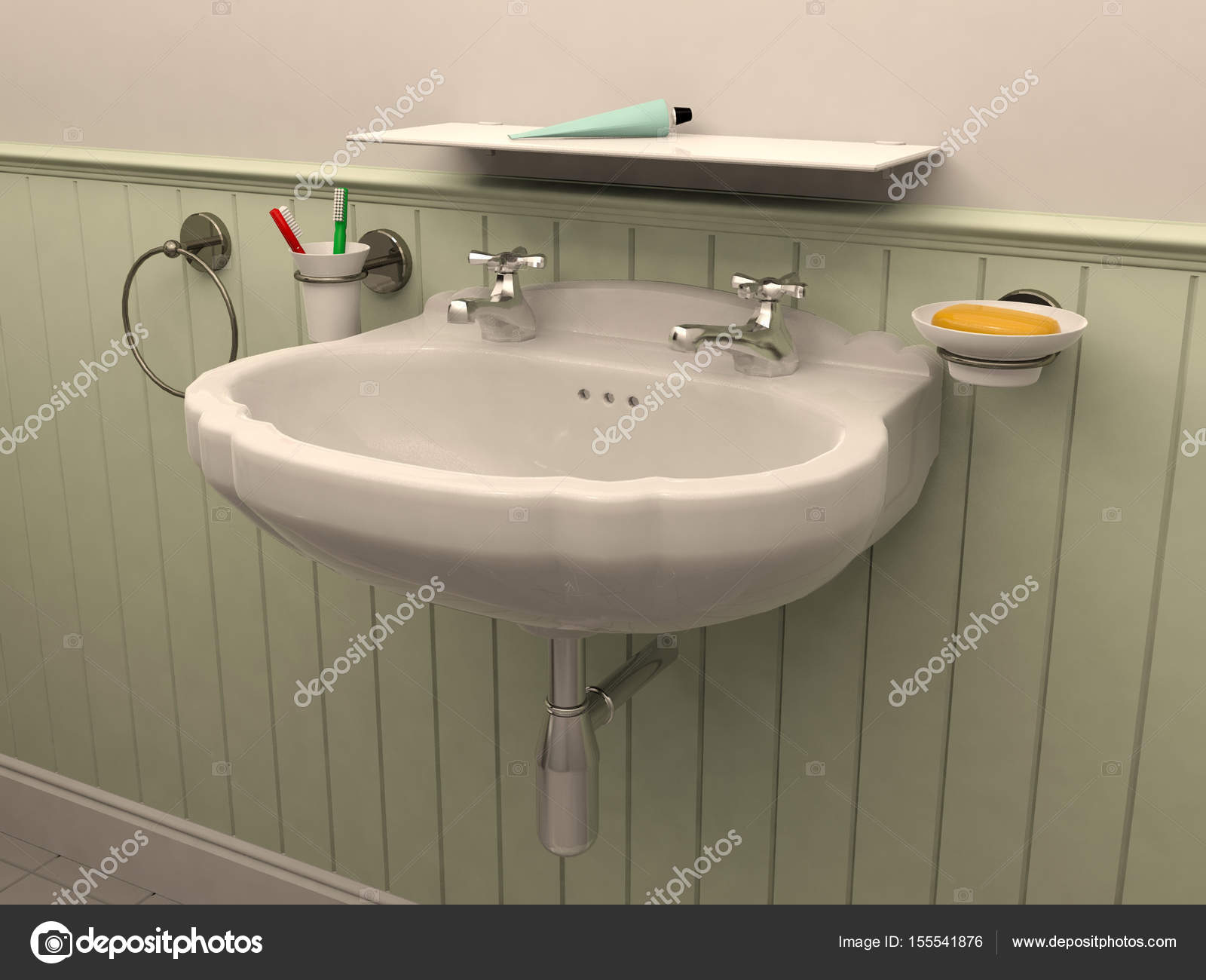 Washbasin in toilet room interior u2014 stock photo © geerati@gmail.com