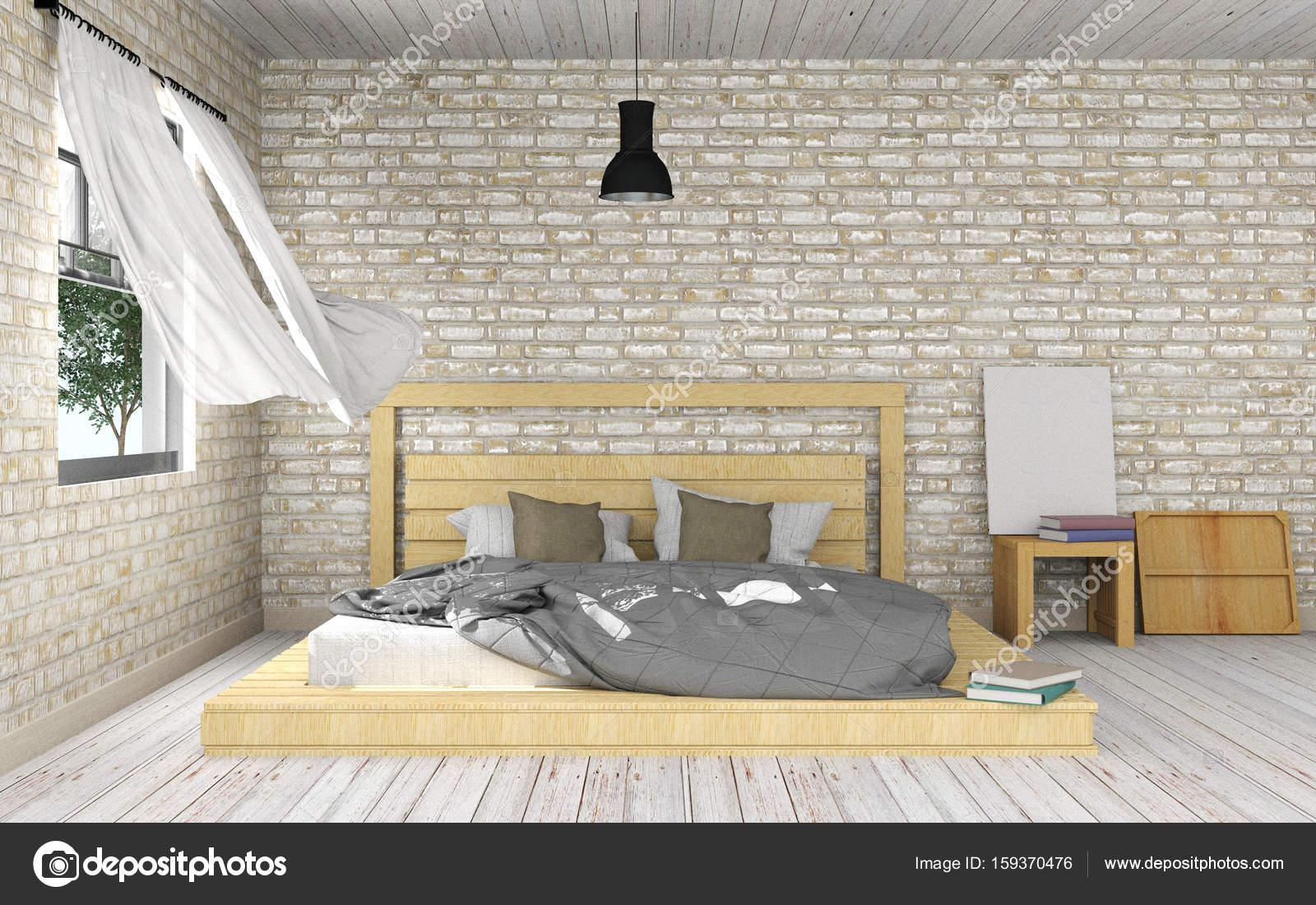 Biała Sypialnia Nowoczesna Minimalistyczna Wnętrze