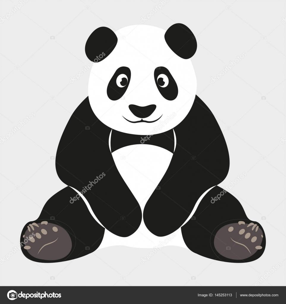 Panda Mignon Dessin Animé Image Vectorielle Gdkd 145253113