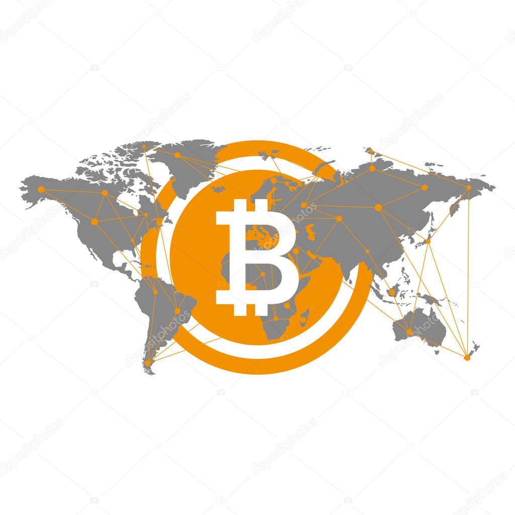 Bitcoin icon flat art web www mobile app sign image grey bitcoin icon flat art web www mobile app sign image grey similar world map isolated on black background vector by leberus777ail gumiabroncs