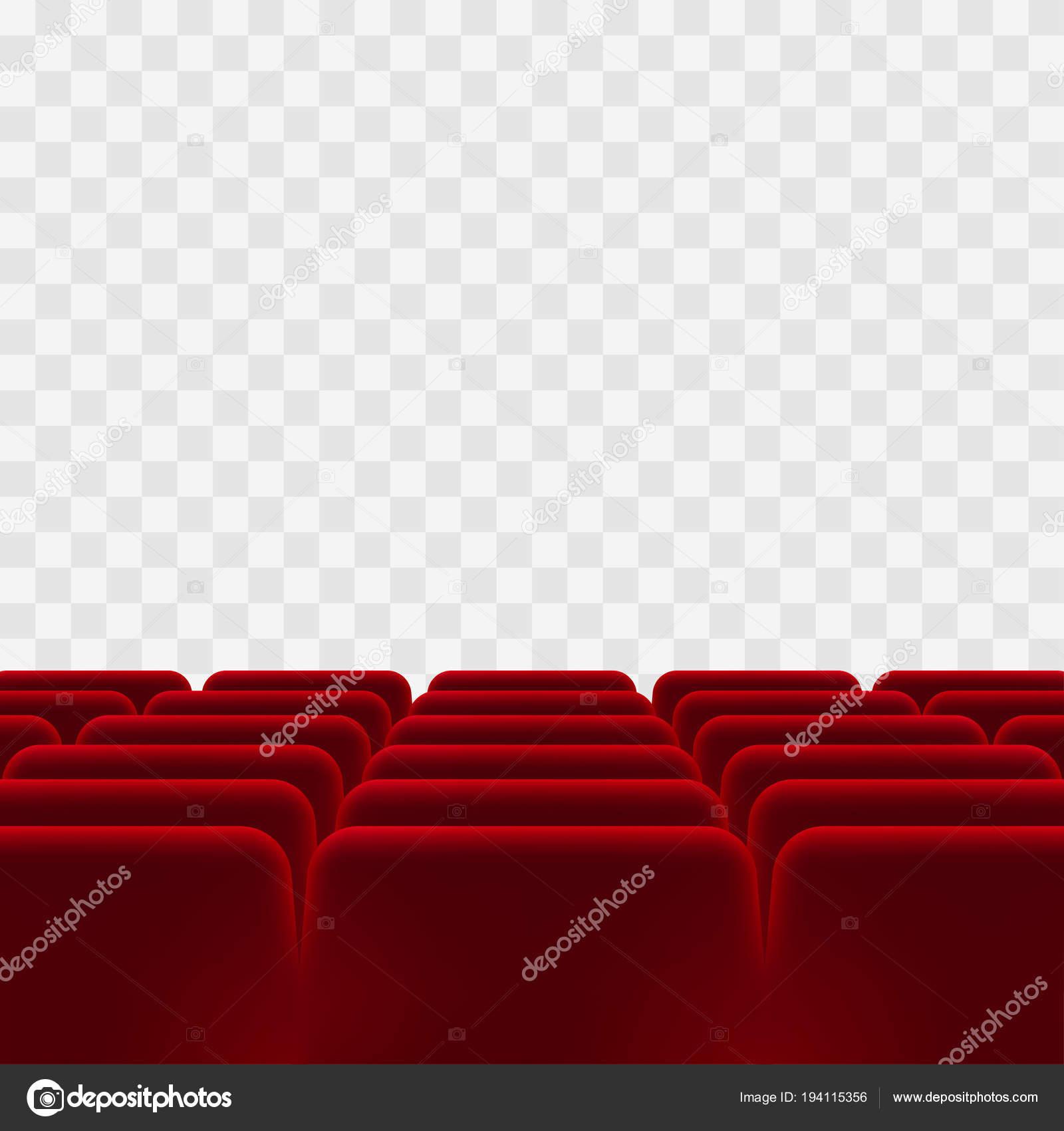 Sedie Rosse Trasparenti.Sedie Rosse Nel Cinema Con Sfondo Trasparente Vettoriali