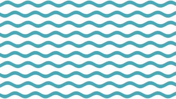 Kék hullámok minta mozgás 4k videó