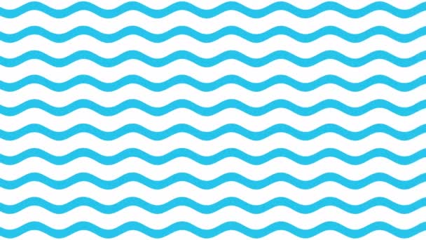 Modré vlny vzor pohyb 4k video