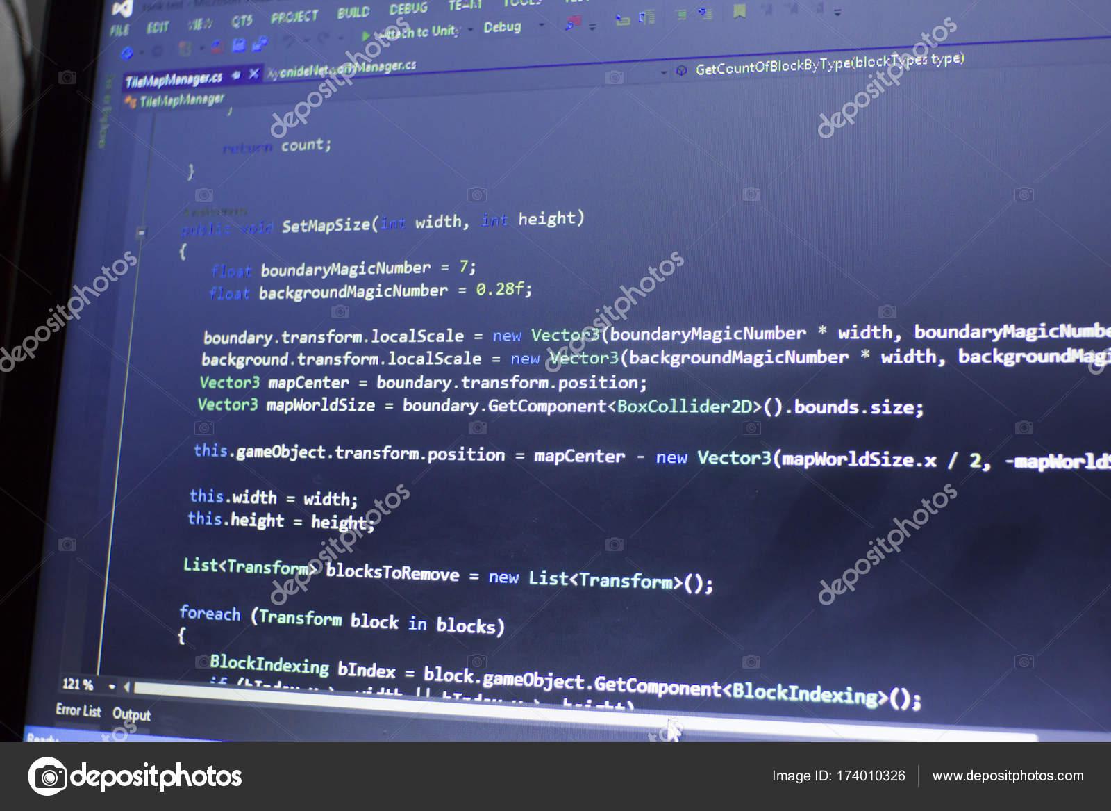 Software development C-Sharp (C#,  NET) code  Abstract
