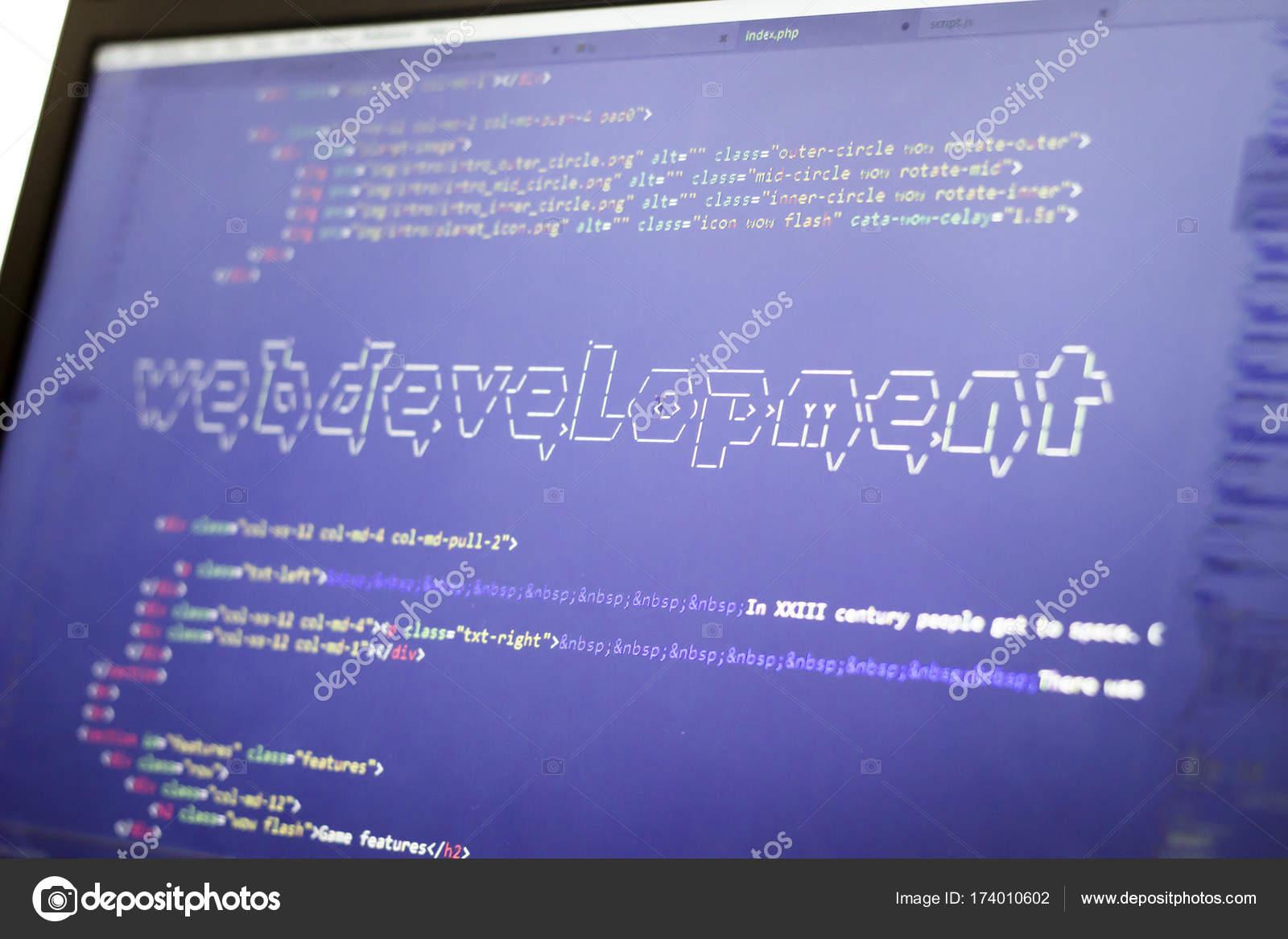 Web development phrase ASCII art inside real HTML code  Web