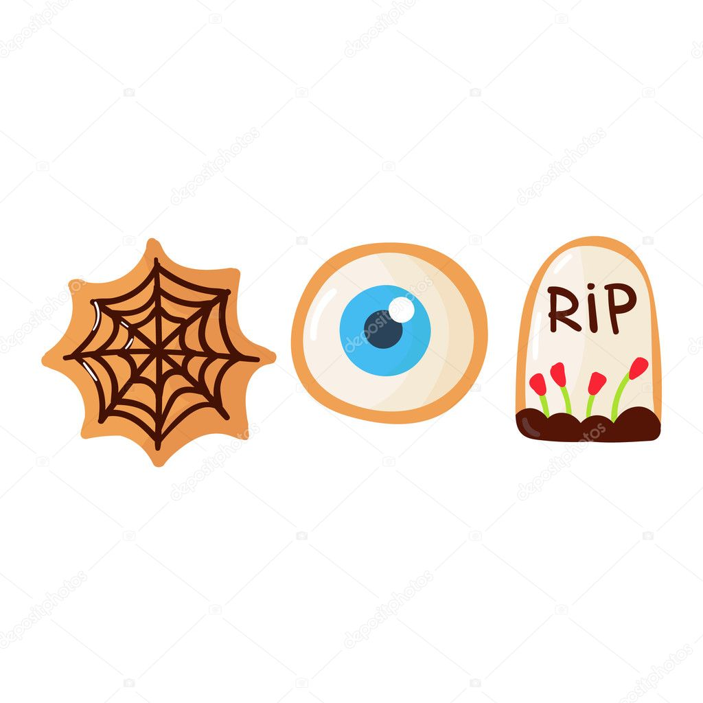 Halloween Symbols Vector Stock Vector Luplupmeail 125885818