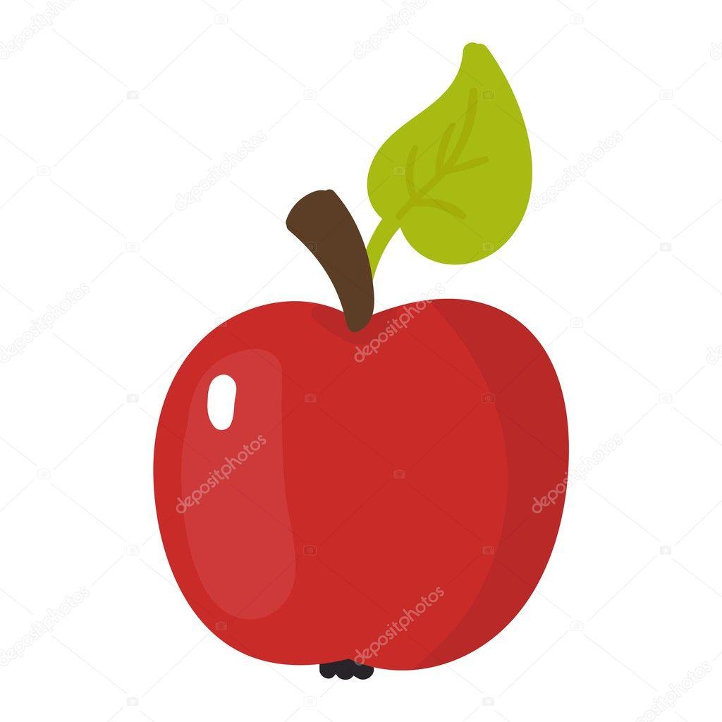 taze elma simgesi — Stok Vektör © luplupme.gmail.com #126283402