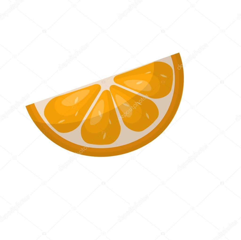 Orange slice vector — Stock Vector © luplupme gmail com