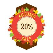 Autumn sale logo badge
