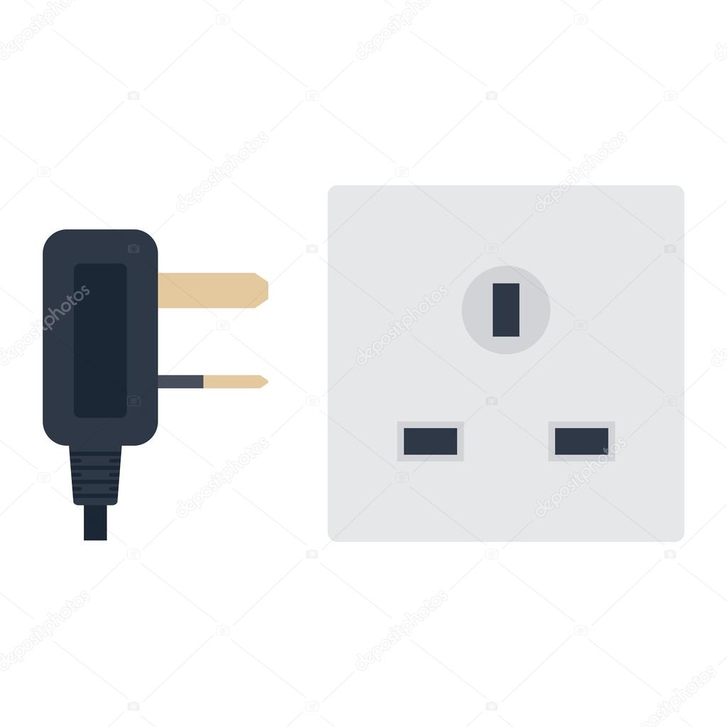 Electrical outlet plug vector illustration. — Stock Vector ...