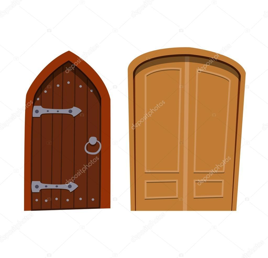 Tür isoliert-Vektor-illustration — Stockvektor © luplupme.gmail.com ...
