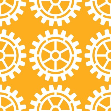 Vector gears icons seamless patterns