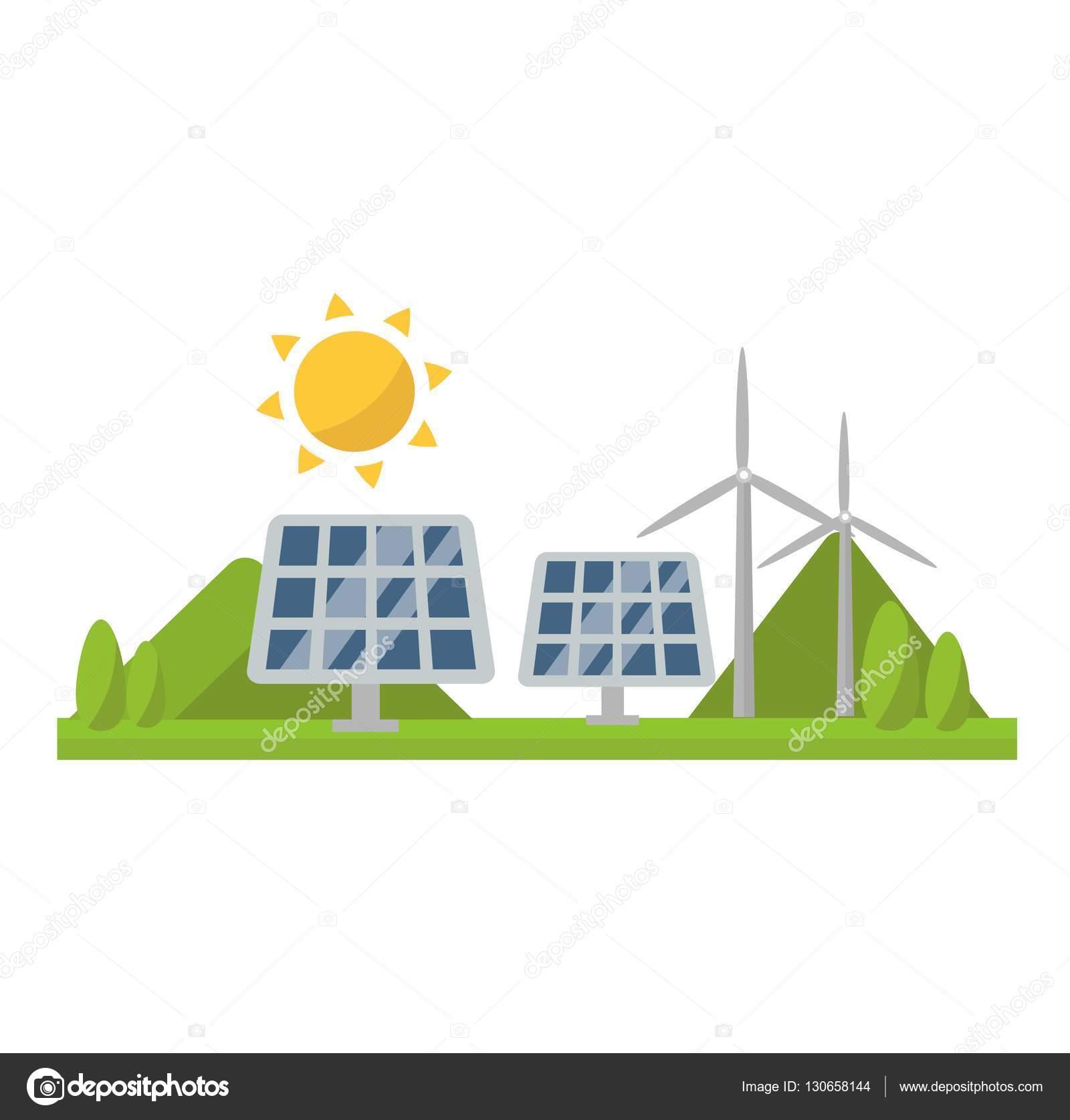 Sun solar energy vector — Stock Vector © luplupme gmail com
