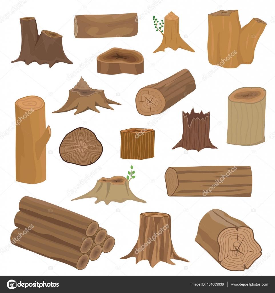 Tocones de madera set de vector archivo im genes - Tocones de madera ...