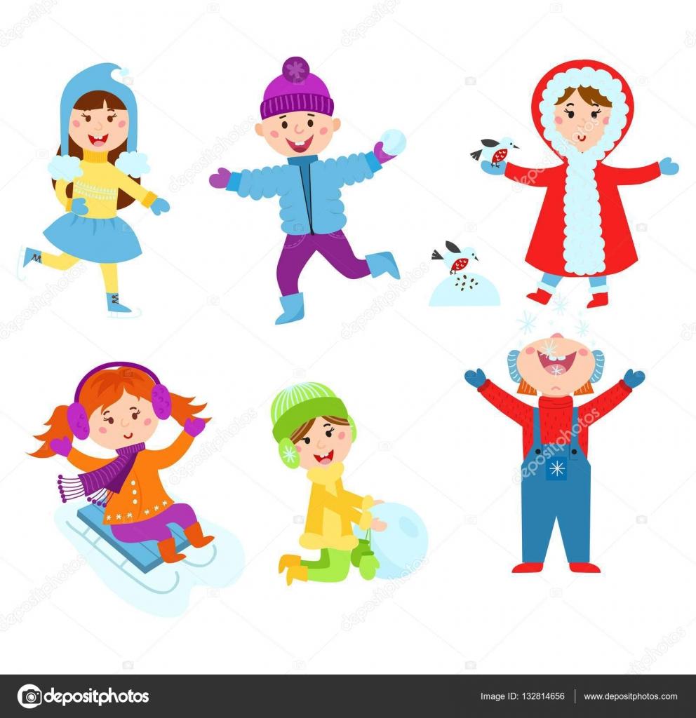 Weihnachten Kinder Winter spielen — Stockvektor © luplupme.gmail.com ...