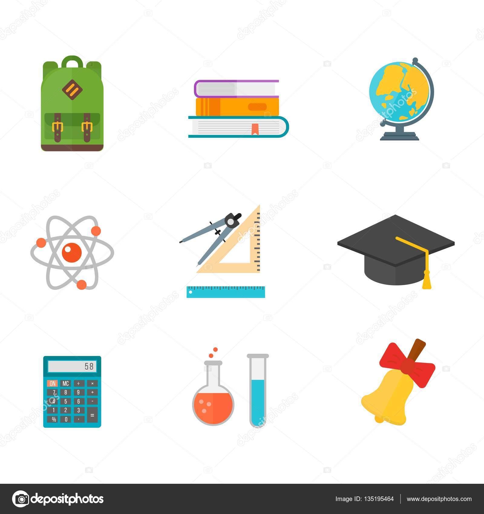 School symbols vector set stock vector luplupmeail school symbols vector set stock vector buycottarizona Image collections