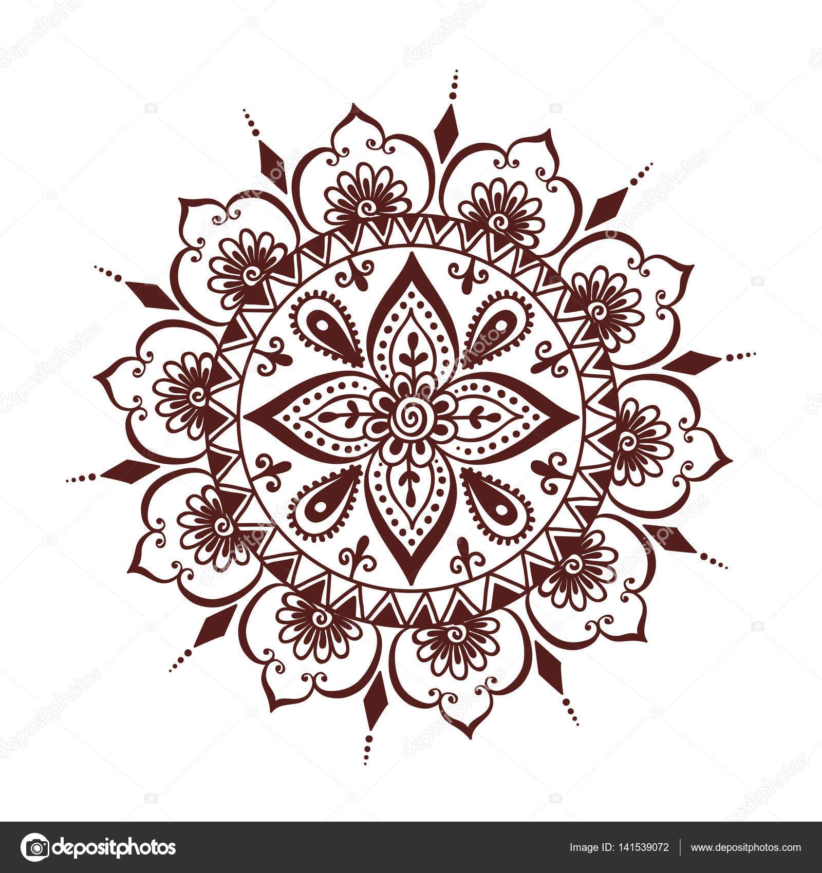 henna tattoo mehndi blume vorlage vektor illustration stockvektor 141539072. Black Bedroom Furniture Sets. Home Design Ideas