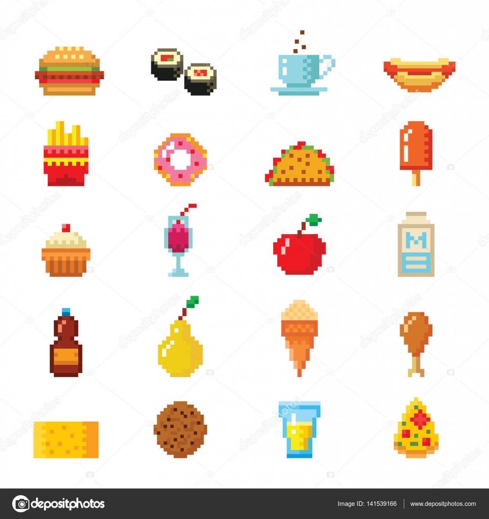 Dessin Pixel Art Facile Nourriture