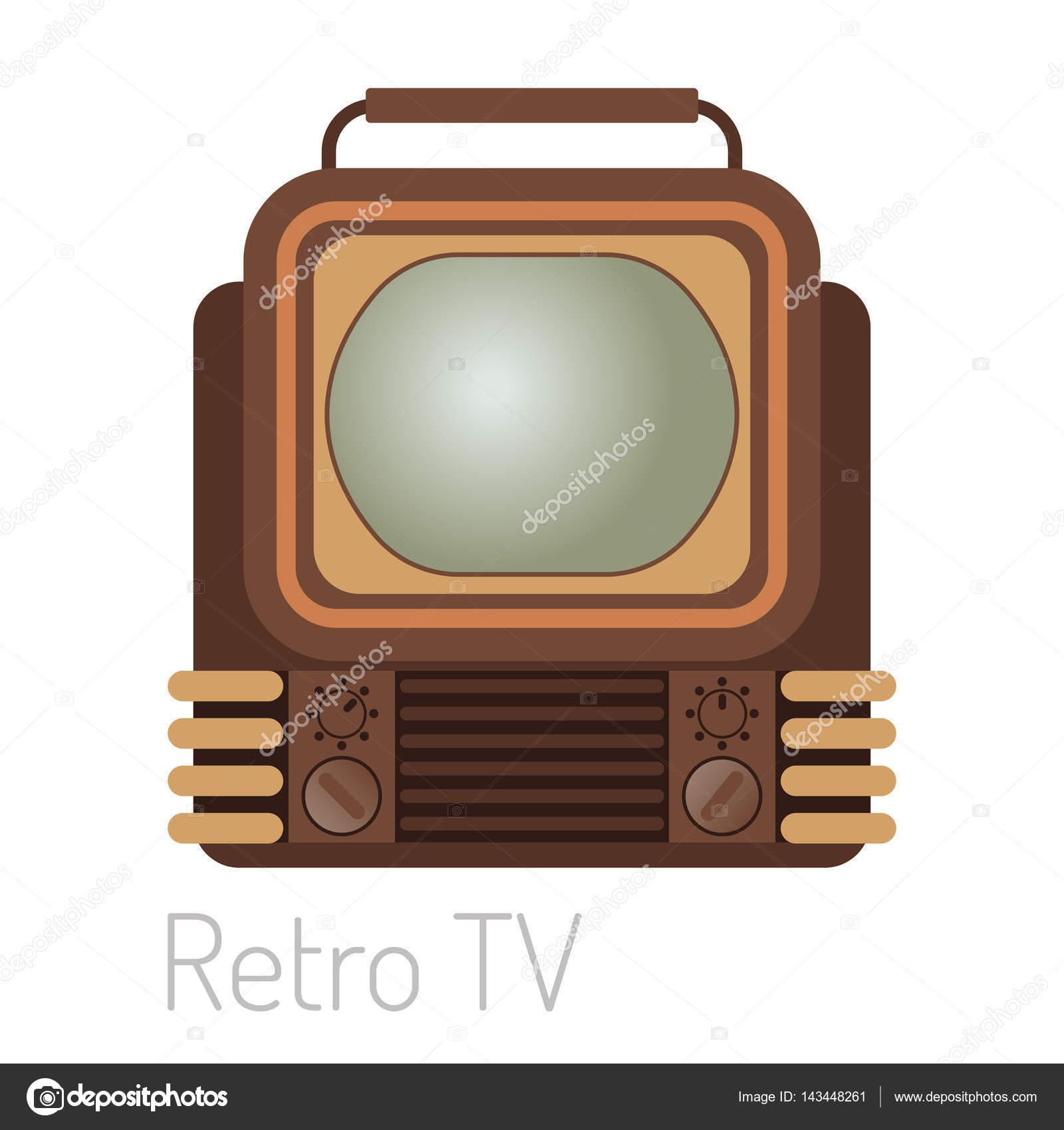 TV-Bildschirm Vintage Vorlage elektronisches Gerät Technologie ...