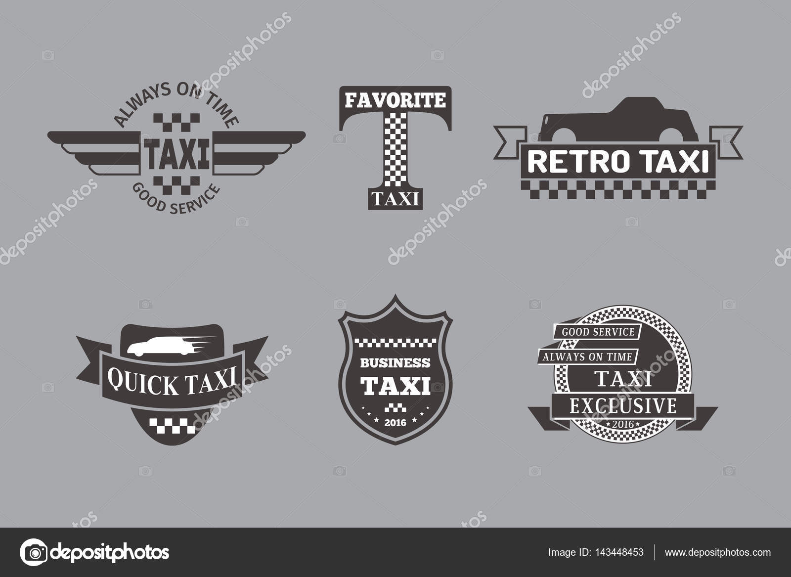 Taxi-Abzeichen Auto Service Geschäft Zeichen Vorlage Vektor ...